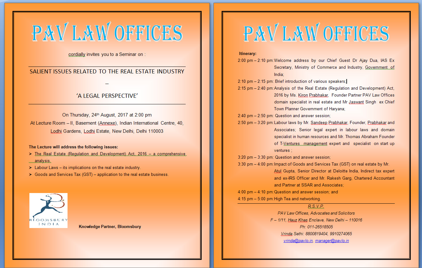 PAV LAW OFFICES, New Delhi India Lawyers India, Real Estate Law,attorney  India Real Estate U0026amp; Infrastructure Projects Information Technology, ...